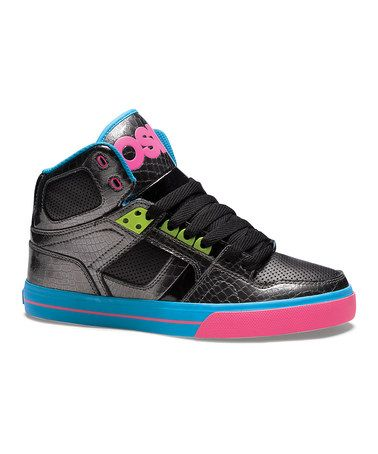 ff21c4c7b7 Black & Pink NYC 83 Leather High-Top Sneaker - Women by Osiris Shoes #zulily  #zulilyfinds