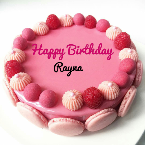 Beautiful Strawberry Birthday Cake With Name For Sister Birthday
