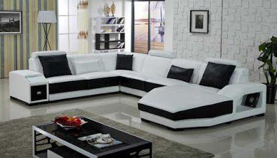 Black And White Sofa Set Designs For Modern Living Room Interiors 9