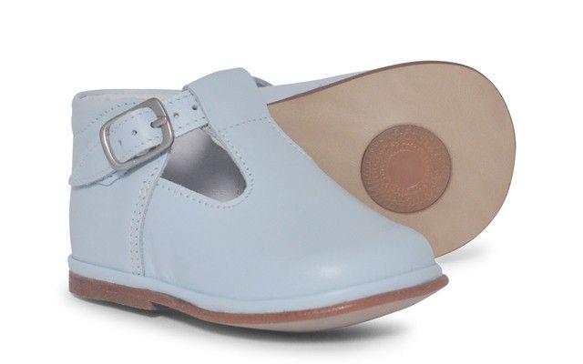 Baby Boys Pale Blue T-Bar Shoe