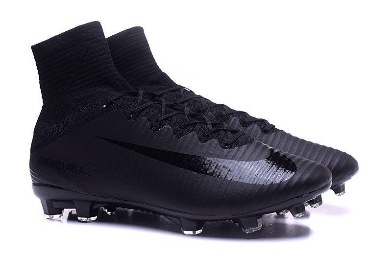 Soccer Nike Mercurial Superfly V Fg Junior Soccer Cleat Black Black Black Soccer Cleats Nike