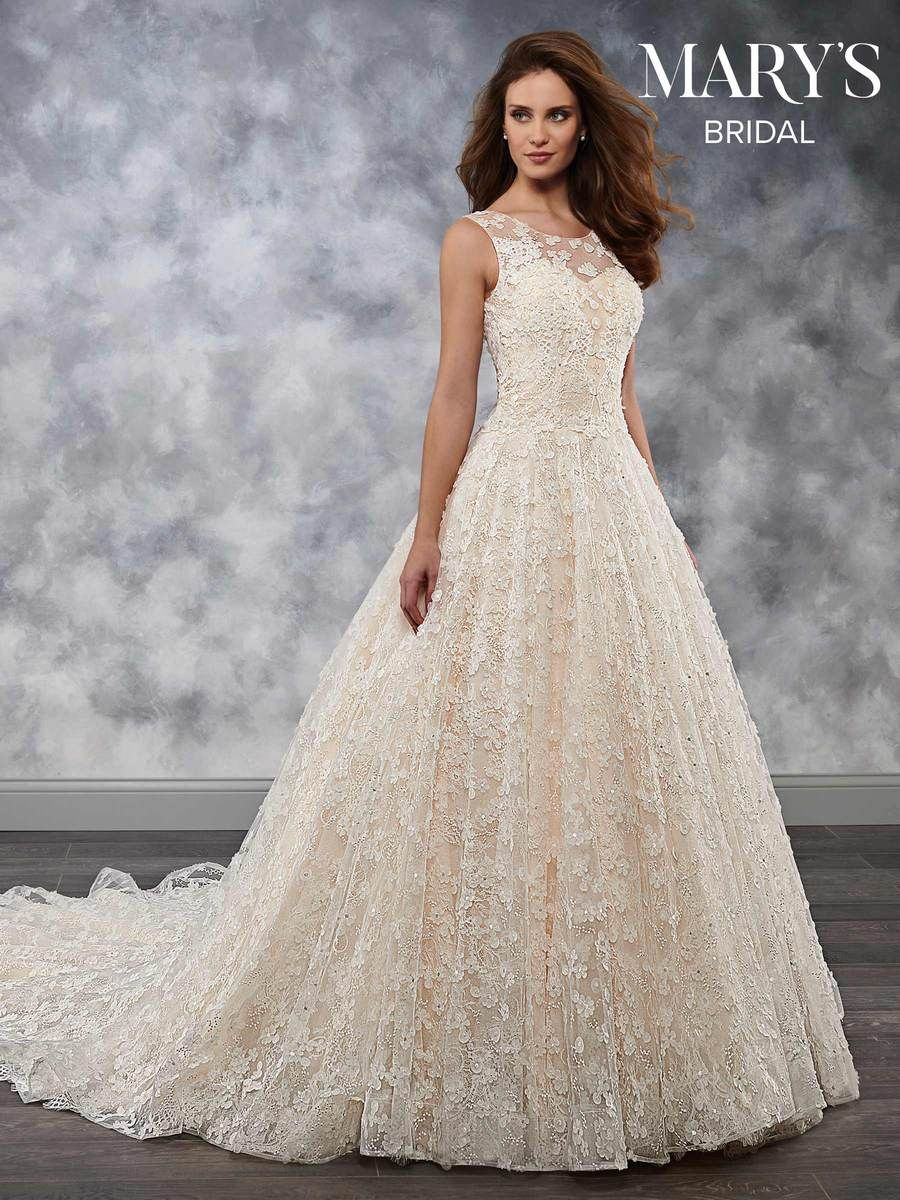 Mary S Mb3037 In 2019 Wedding Dresses With Flowers Mary S