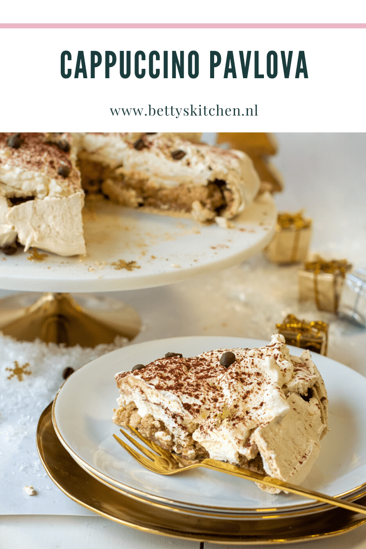 Cappuccino Pavlova (video) kerst dessert| Recept | Betty's Kitchen #kerstdesserts