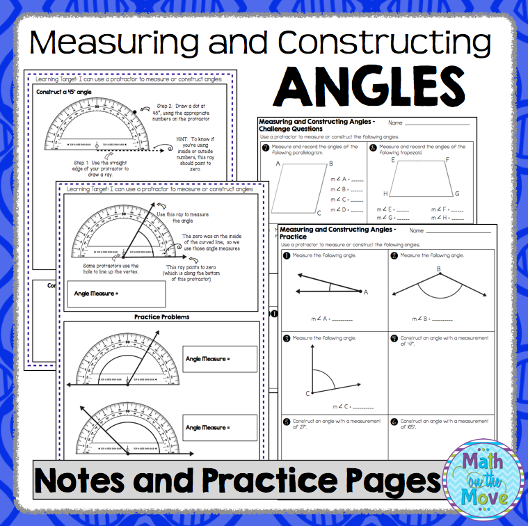 Ice Cream Worksheets Excel Measuring And Constructing Angles  Notes And Practice Worksheet  Preschool Letter Tracing Worksheet Pdf with Multiplying By Powers Of 10 Worksheets Word Measuring And Constructing Angles  Notes And Practice Worksheet Ch Worksheets Phonics