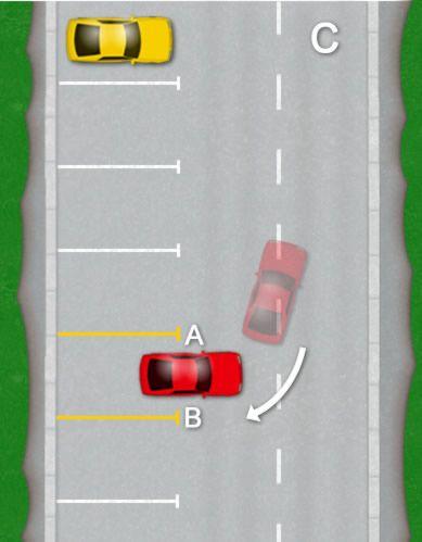 how to park a car bay parking diagram c