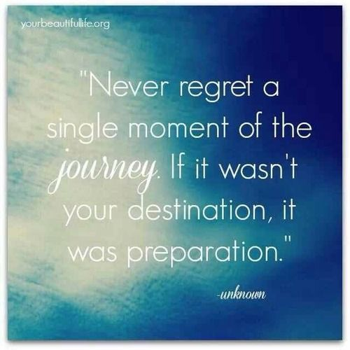 Quotes On Love And Regret: Never Regret A Single Moment Of The Journey