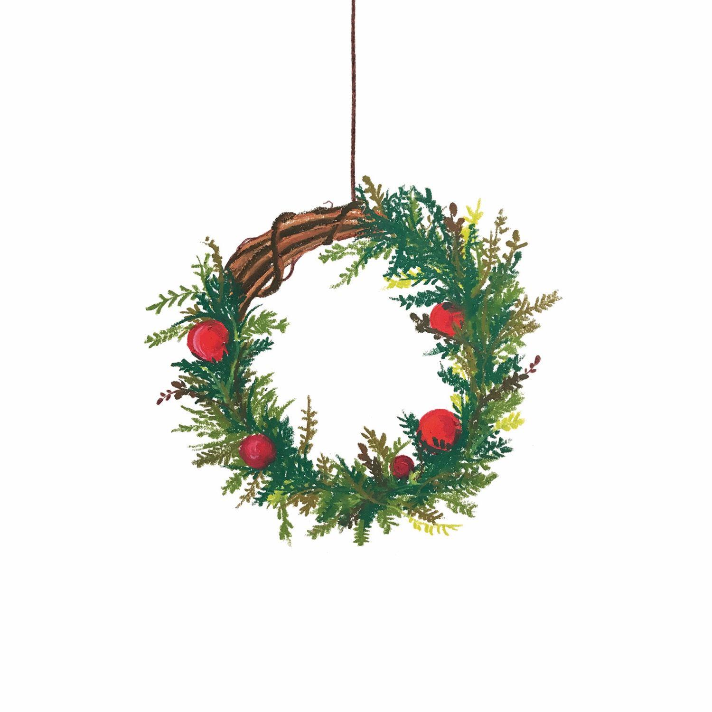 크리스마스리스 Christmas Wreath 크리스마스 카드 크리스마스 크리스마스 리스