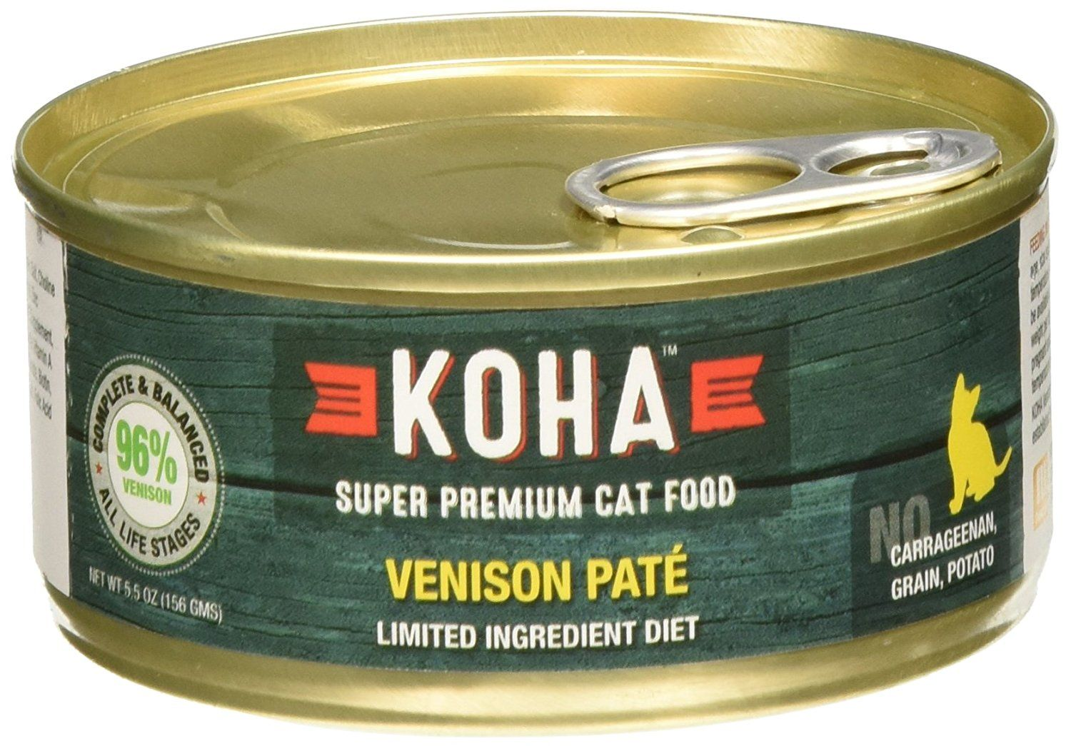 Koha can venison cat food 24 pack 55 oz be sure to