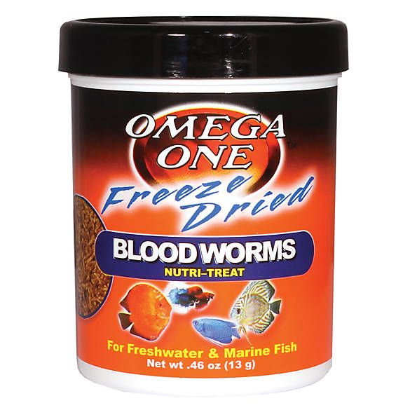 Omega™ One Freeze Dried Bloodworms Fish Treat fish Food