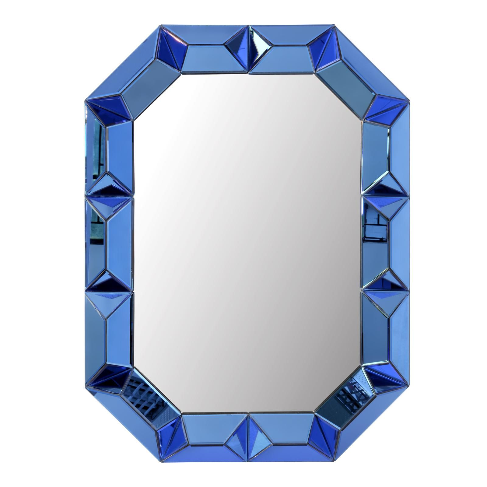 Romano Wall Mirror in Blue Mirror by Bungalow 7bf39040c80