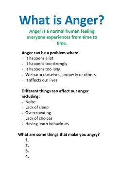 Anger Management Activities For Teenagers A Workbook For
