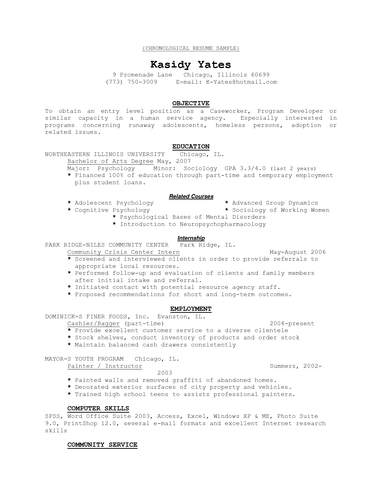 Resume Sample Format Download Pdf Chronological Templates Which