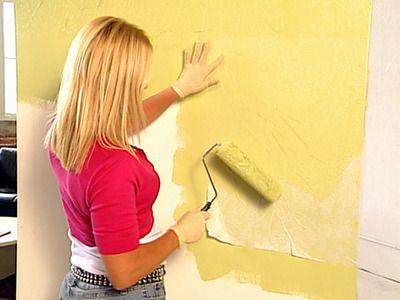 Decorative Paint Technique Crinkle Paper Painting  Deco Peinture