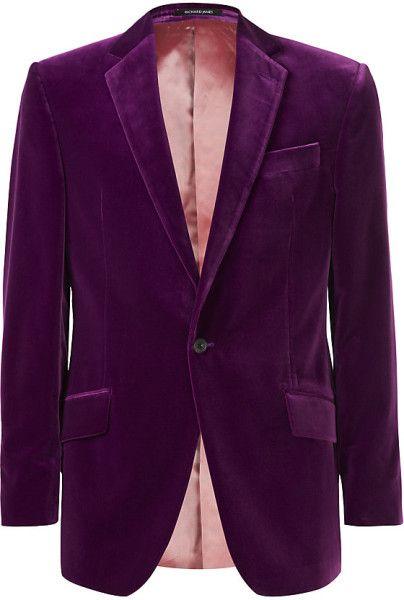 52f6265e8ff0 Richard James Velvet Jacket in Purple for Men