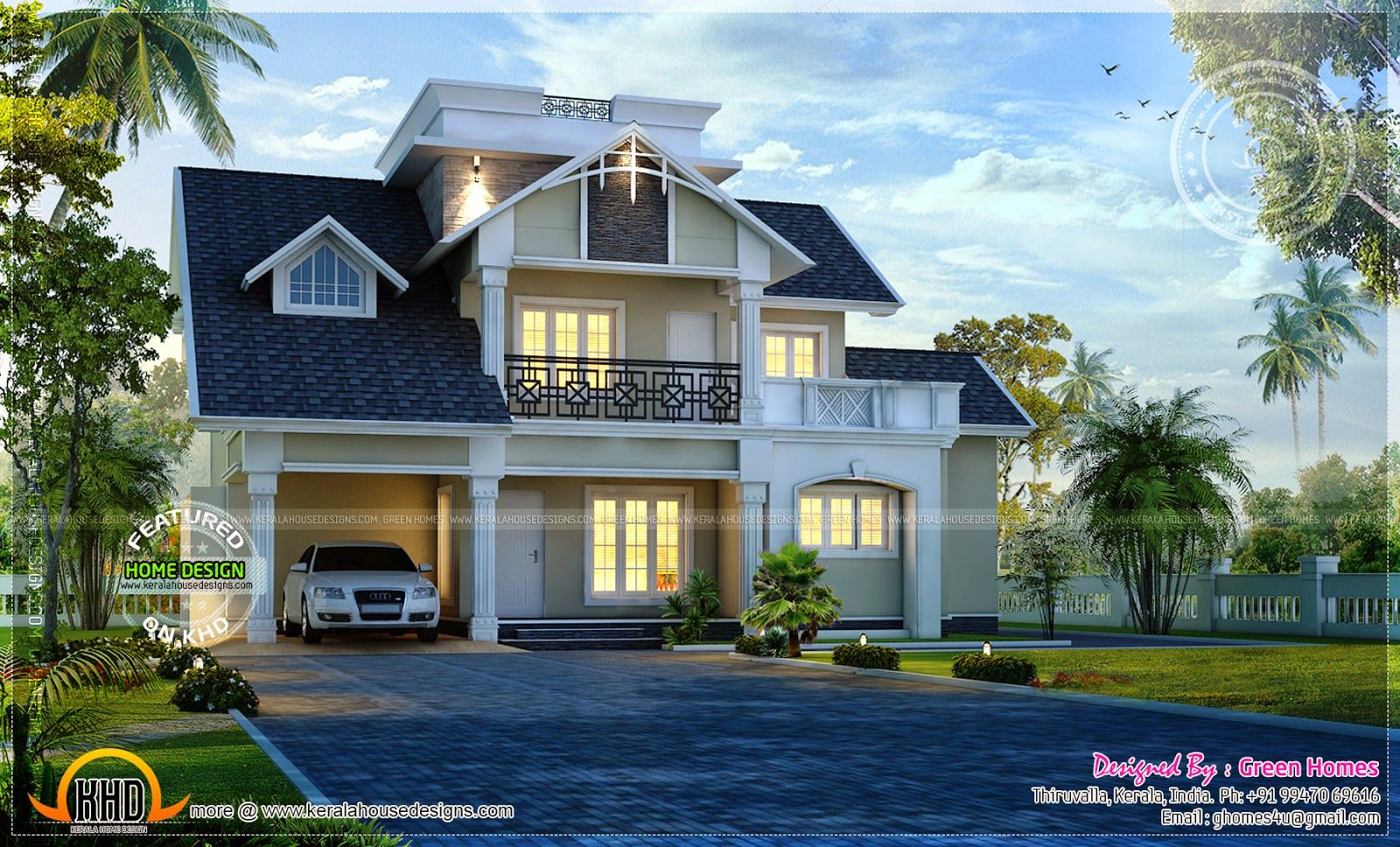 awesome modern house exterior kerala home design