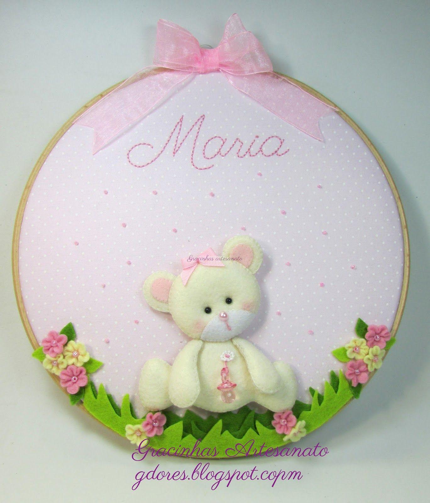 Ursinha Feltro Felt Little Bear Gracinhas Artesanato Coisas
