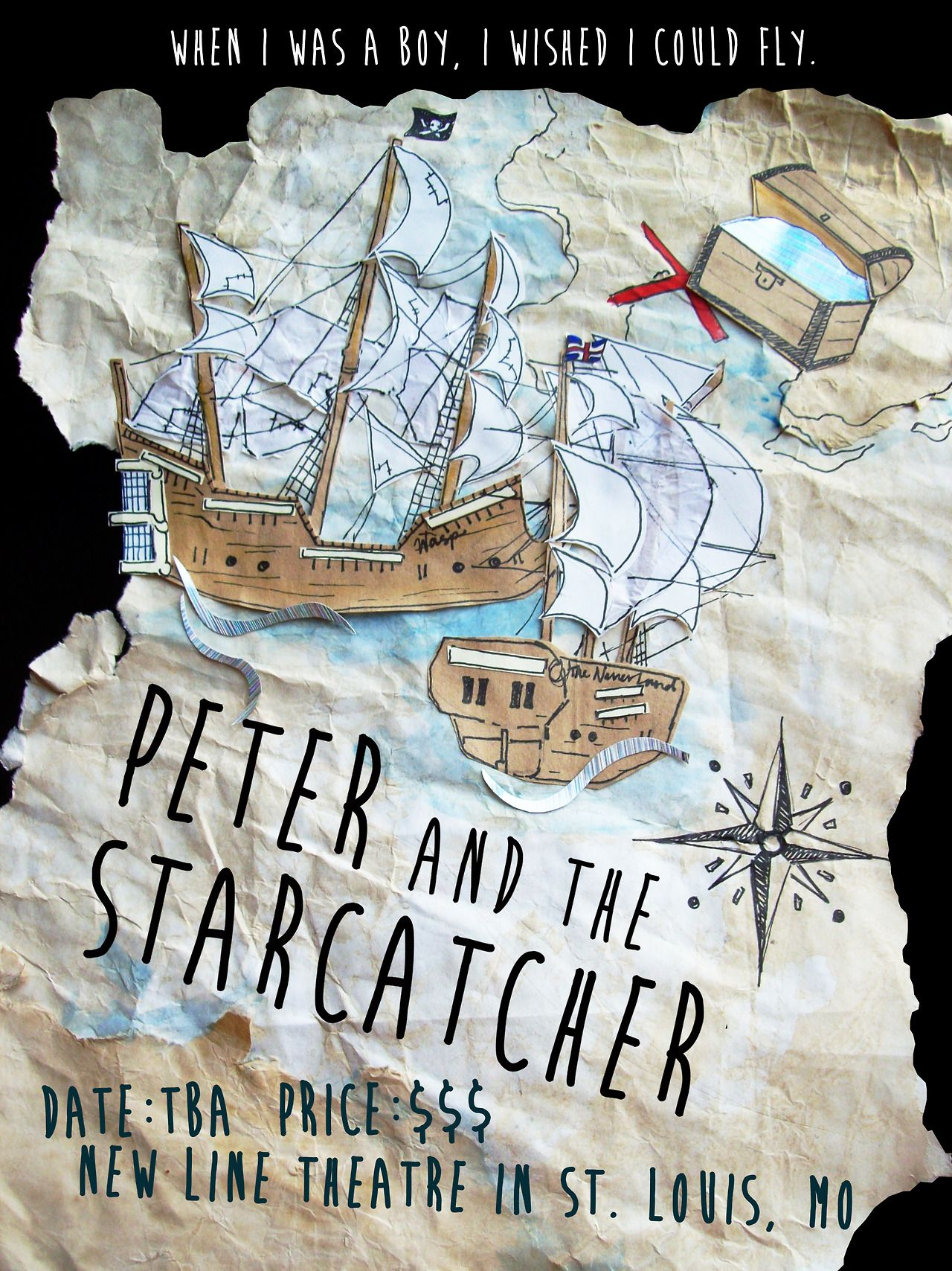 Poster Design for the play Peter and the Starcatcher 2013