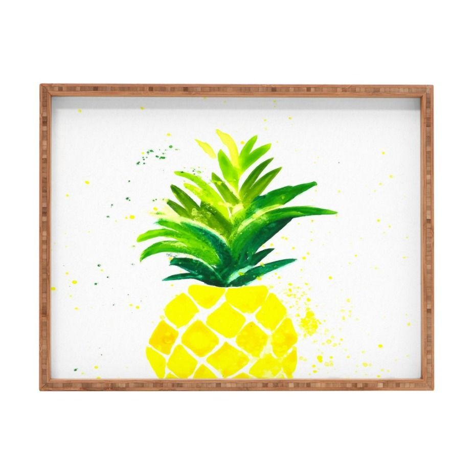Use this Pineapple Sunshine Rectangular Tray as decoration in any room or to serve cocktails. Either way, you'll be the stylish hostess with the mostess!