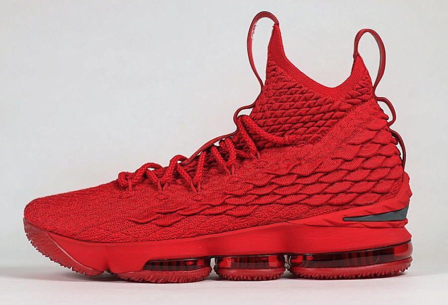 outlet store 2c3ef b7568 Nike LeBron 15 Ohio State Red PE | Jordan | Lebron 15 shoes ...
