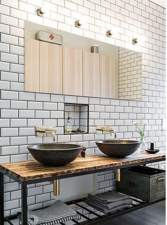 Schönes Badezimmer mit einem kühlen klassischen Touch #Badezimmer ...