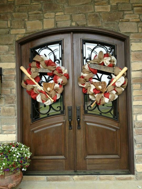 Baseball Wreath Sports Baseball Wreaths Wreaths Sports Wreaths