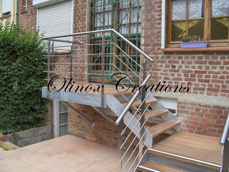 Escalier Jardin Extrieur  Escalier Extrieur Limon Galva Marches