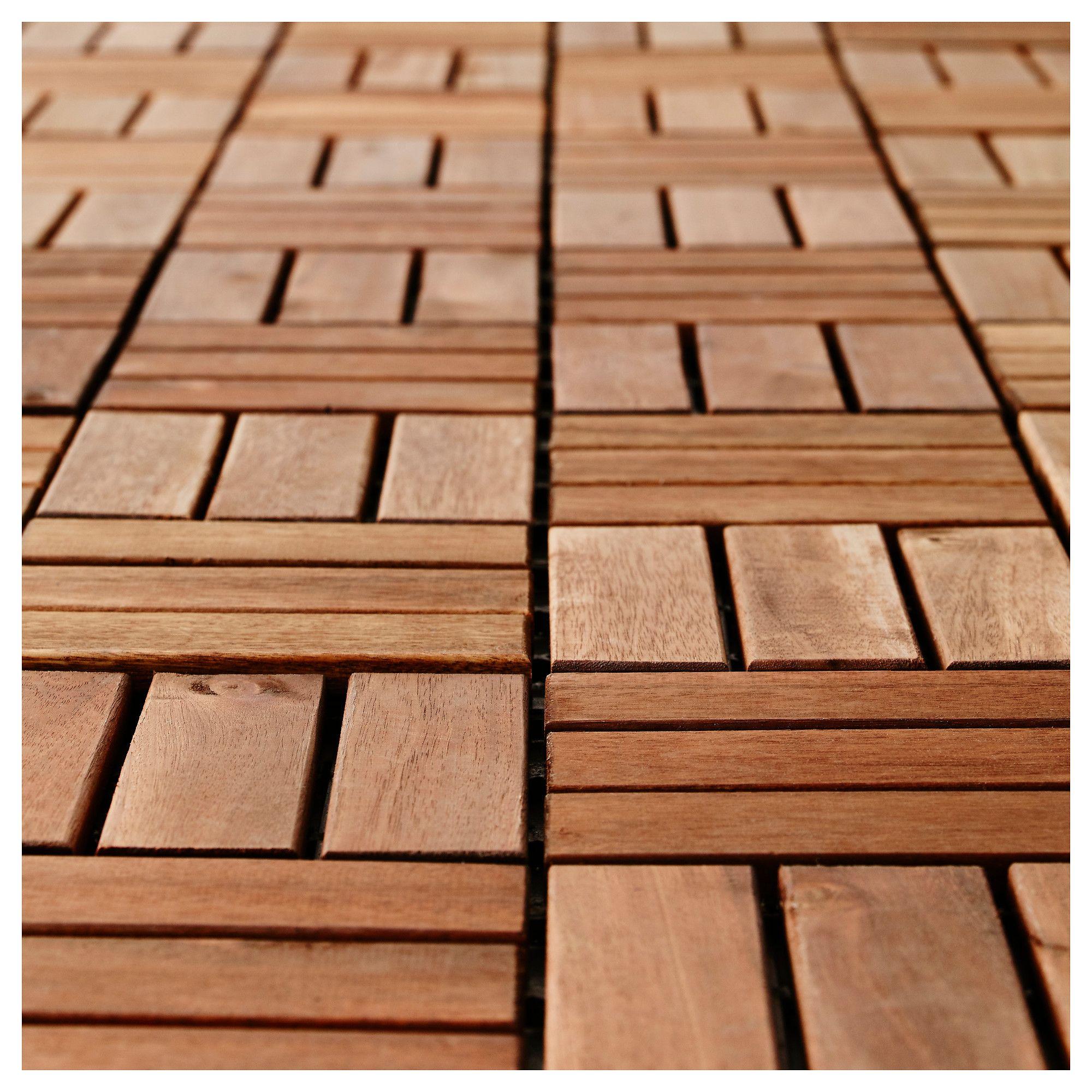 IKEA RUNNEN Decking, outdoor brown stained Outdoor