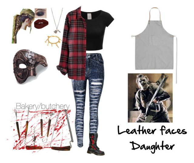 """Leatherfaces  Daughter"" by haleyparis on Polyvore featuring Madewell, Dr. Martens, Workhorse, Erica Anenberg and ferm LIVING"
