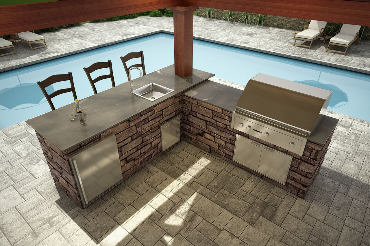 Nantucket outdoor kitchen carolina signature outdoor for Idea paisajismo patio al aire libre