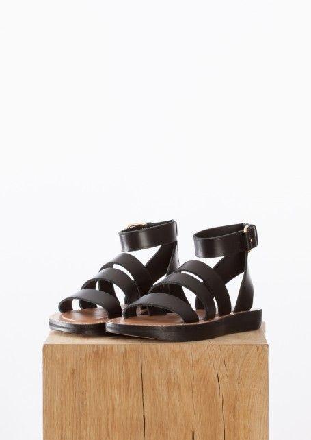 3ecfe60b6ff6 CELINE More Sandals CELINE Black hiker flat Sandals    6