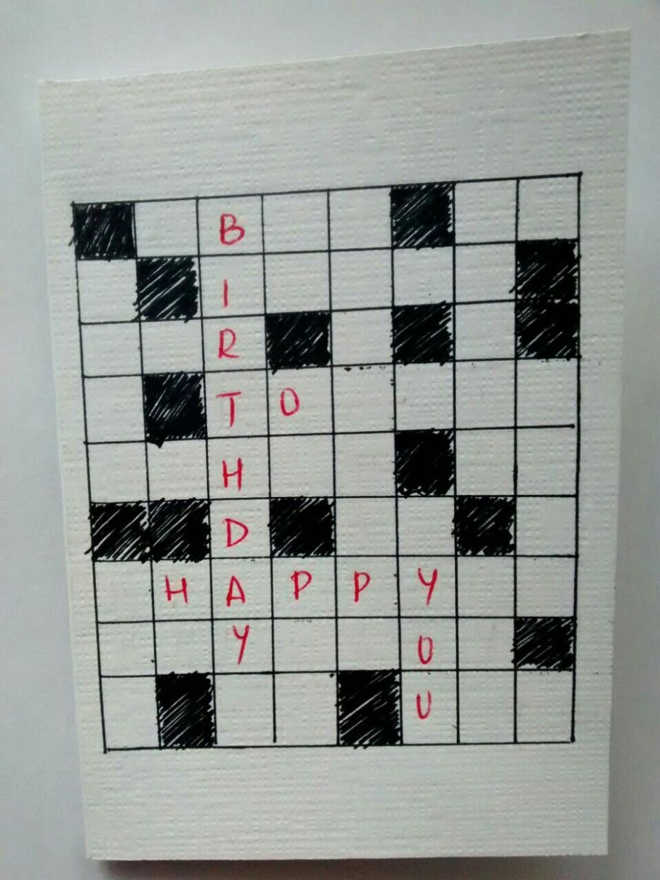 Blank Greeting Card Crossword Clue Happy Birthday Cards Crossword Blank Greeting Cards