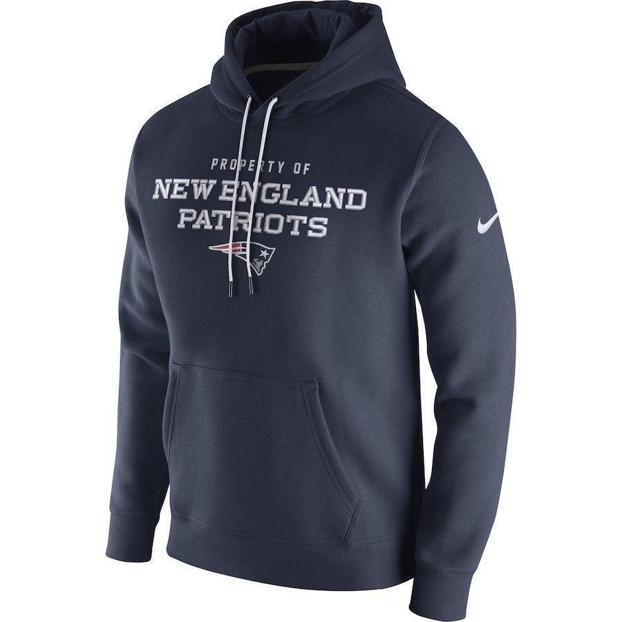 Men s New England Patriots Nike Navy Stadium Classic Club Fleece Pullover  Hoodie 5021c4364