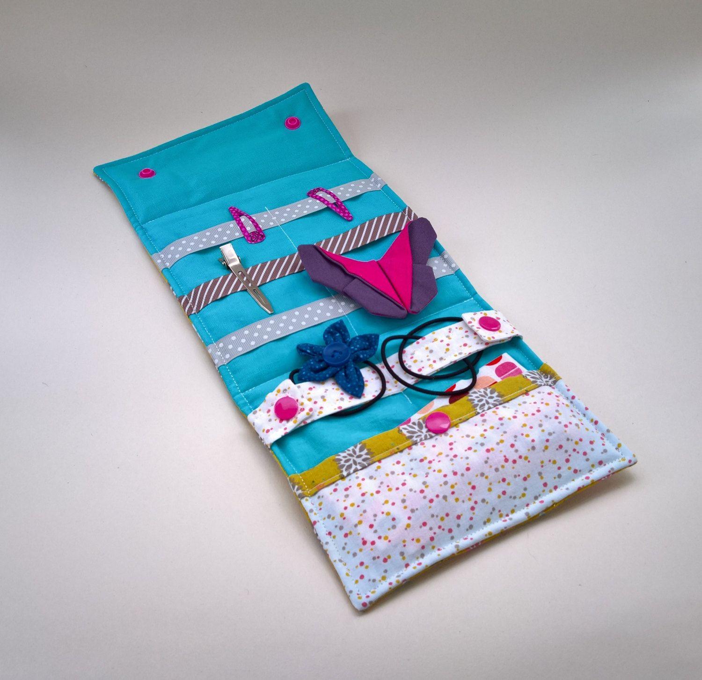 pochette range barrettes et lastiques jaune moutarde de la boutique lescreationsdejulie1 sur. Black Bedroom Furniture Sets. Home Design Ideas