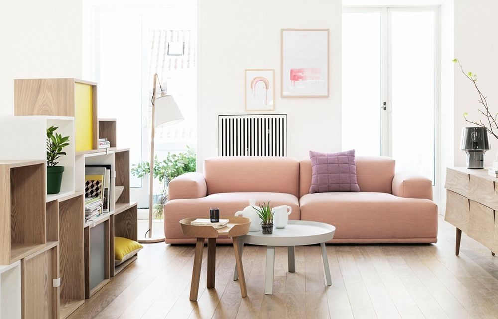 Scandinavisch Pastel Interieur : Pastel interieur scandinavisch decoration living room home sofa
