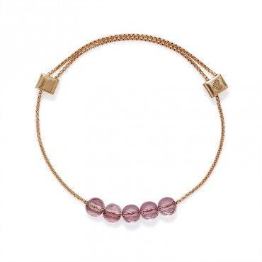 Antique Pink Swarovski Crystal Expandable Bracelet