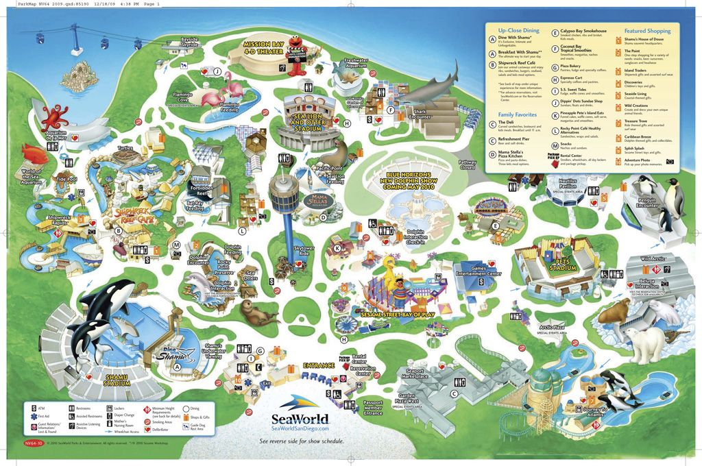 Seaworld San Diego Map Sea World San Diego Map | Theme Parks & Other Places | Sea world