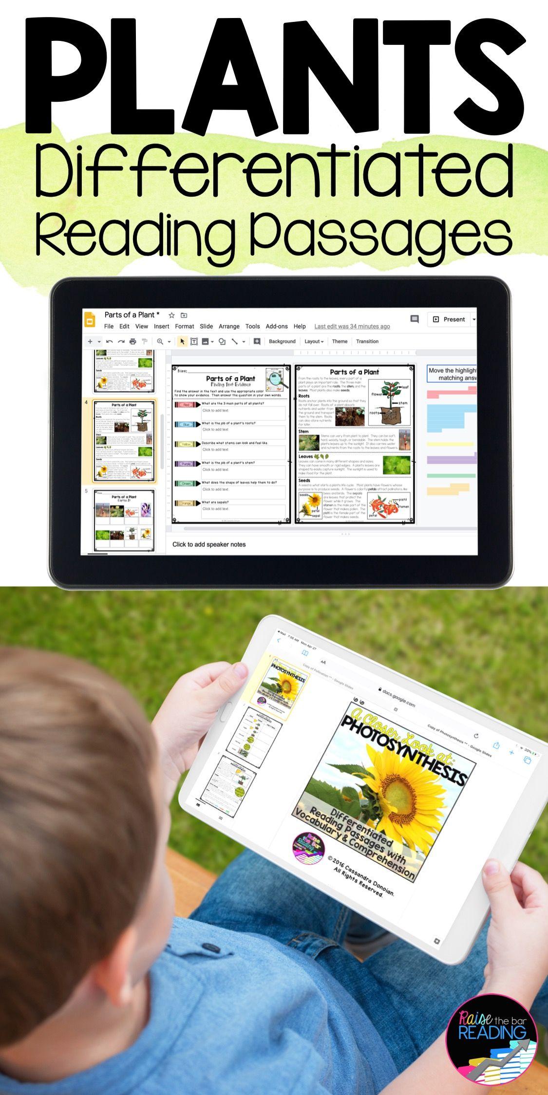 Plants Unit Bundle Paper And Digital Reading Comprehension Passages Reading Comprehension Differentiated Reading Reading Passages [ 2249 x 1125 Pixel ]