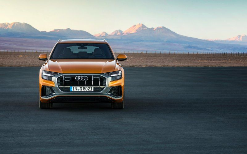 Wallpaper Front 2018 Audi Q8 Compact Suv Car With Images