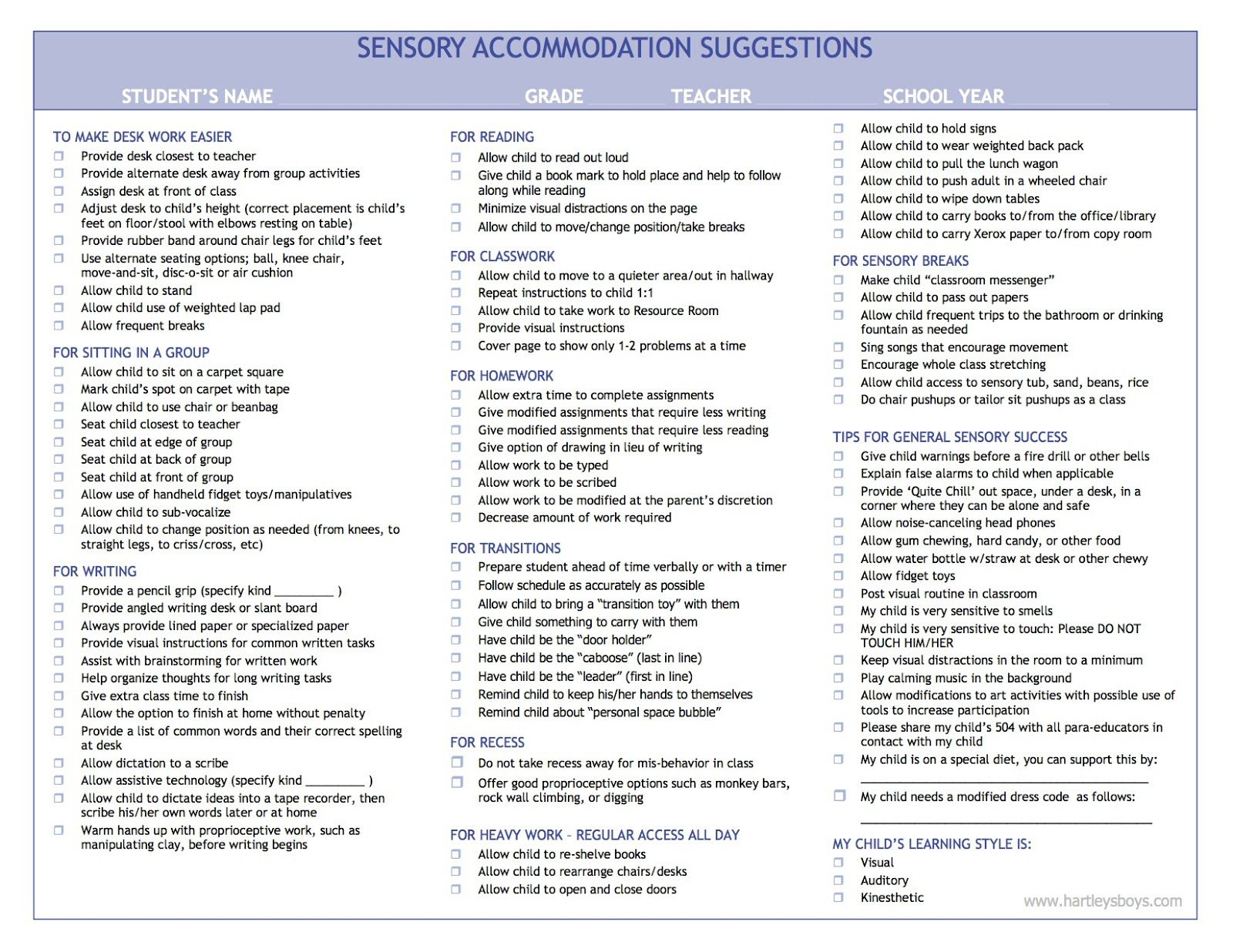 500+ Practical IEP/504 Accommodation and Strategy Ideas