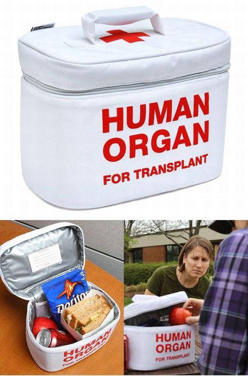 Human Organ Anti Theft Lunch Bag Pic