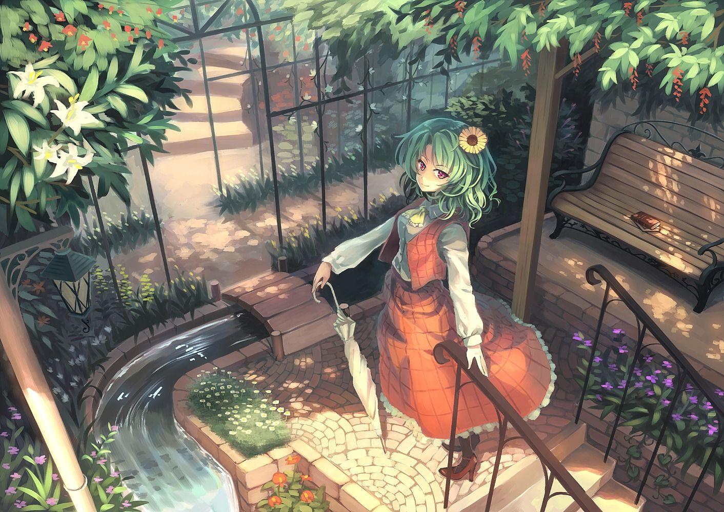 dress kazami yuuka orita enpitsu touhou yande re anime anime art anime fantasy