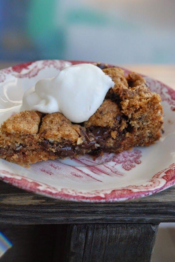 amerikansk cookie med choklad och kola