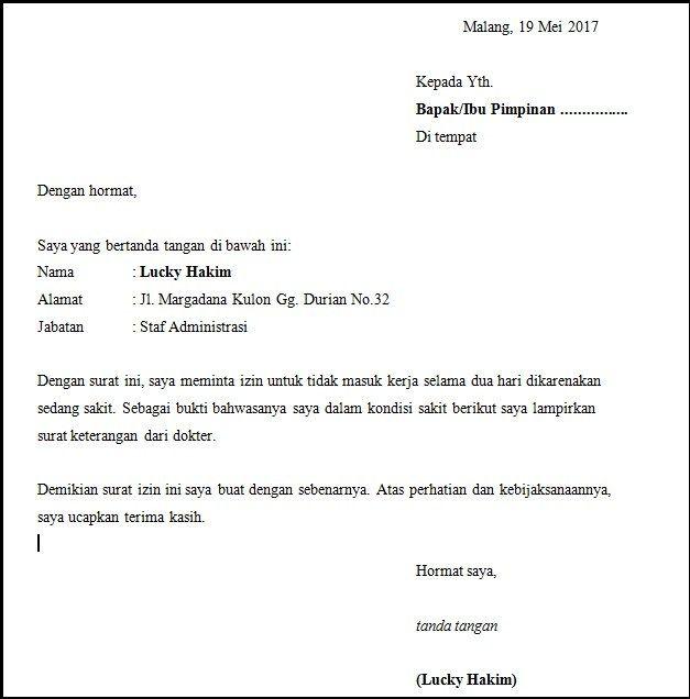 Contoh Surat Pengajuan Permohonan Bantuan