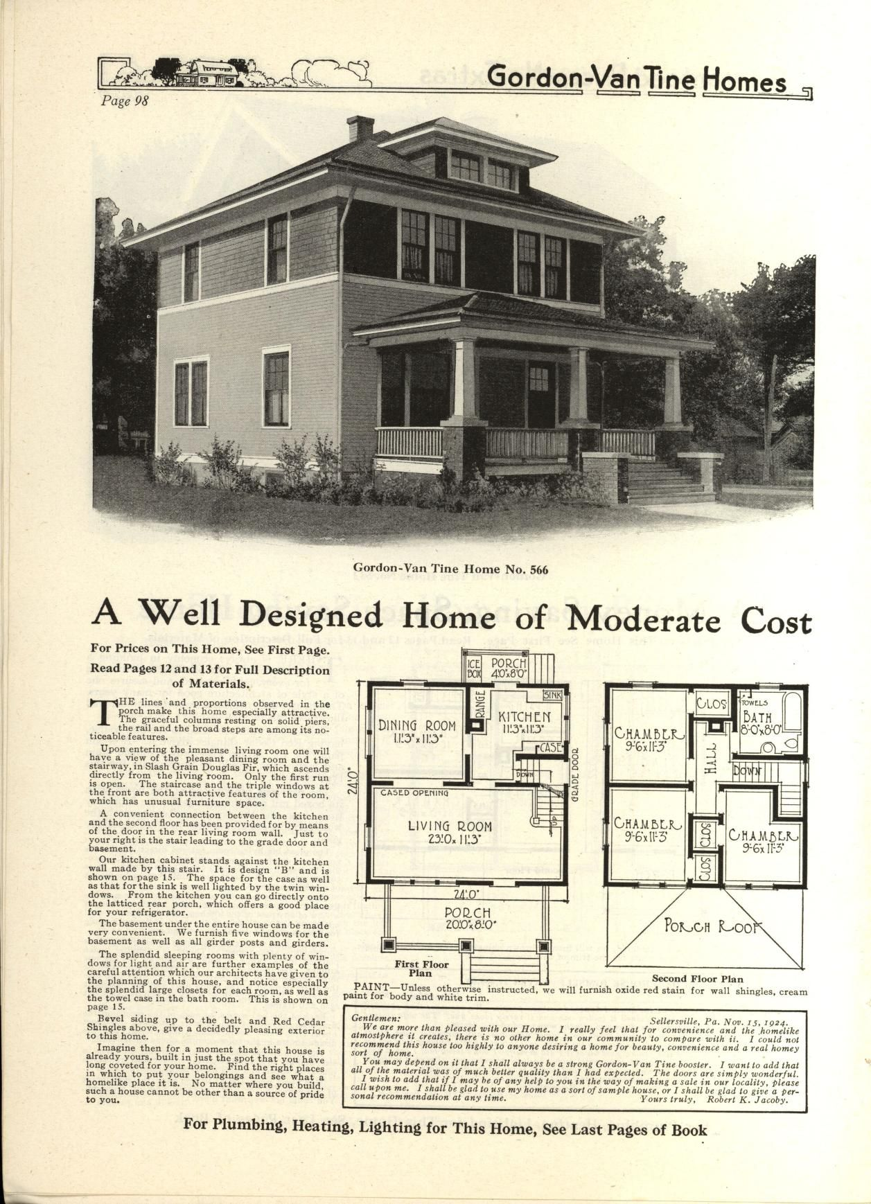 Gordon Van Tine Homes Gordon Van Tine Company Free Download Borrow And Streaming Internet Archive Square House Plans Vintage House Plans Four Square Homes