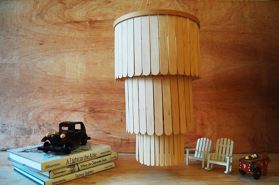 Popsicle Stick Chandelier Craft Stick Crafts Diy Chandelier Popsicle Stick Crafts