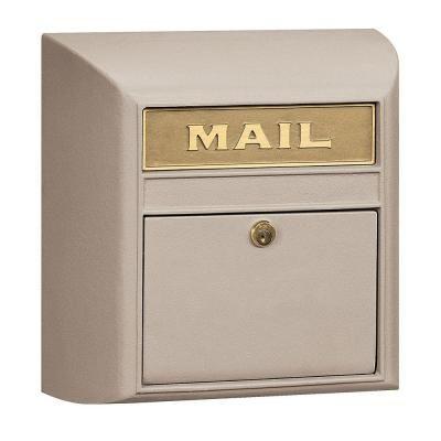 Salsbury Industries 4100 Series 14.5 in. W x 14.5 in. H x 6 in. D Beige Plain Door Modern Mailbox - 4150P-BGE at The Home Depot