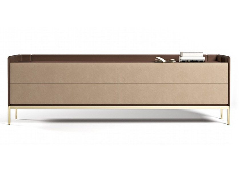Tanned Leather Sideboard With Drawers V246 By Aston Martin