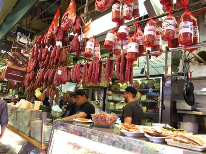 Salumi and more at Famous Mike's Deli in Arthur Avenue Market, NYC