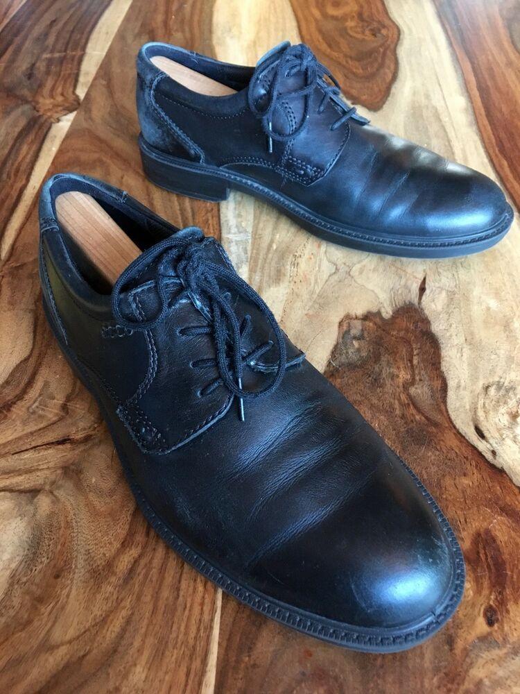 ad0b978b Ecco Black / Teal Leather Oxfords Mens Us Size 8 - 8.5 / EU Size 42 ...