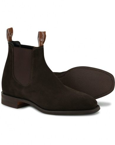 R.M.Williams Blaxland Chocolate Suede | Boots, Chelsea boots